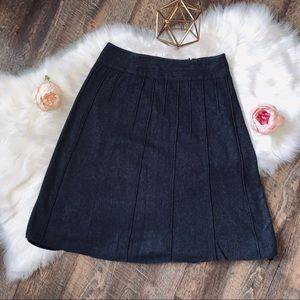 LOFT Ann Taylor Wool Pleated Midi Skirt SIZE 6